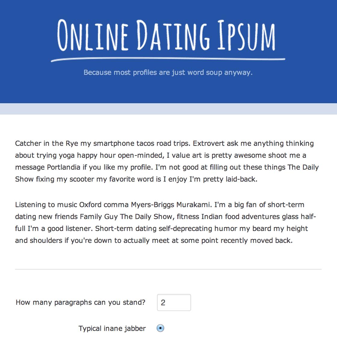 online dating lorem ipsum Why use the best online dating sites lorem ipsum dolor sit amet, consectetur adipiscing elit nunc semper convallis ipsum at cursus integer quam velit,.